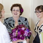 Me, with Mandi and her mom the morning of her wedding.