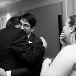 A heartfelt hug from the Father of the Bride to the Groom.  Photo courtesy of Tim Sohn.