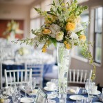 Tables were named after places on the UCLA Campus and framed in mirrored silver frames.