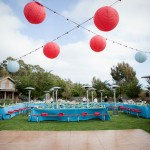 A colorful celebration welcomes 150 of Jen and Chris's closest family and friends