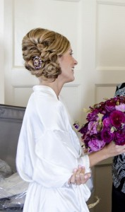 Incorporate heirloom jewelry in your 'do like Mandi did.