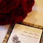 A snapshot of the wedding invitation