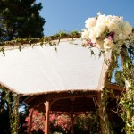 Love the natural look of this wedding chuppah