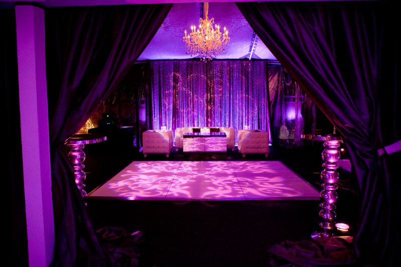 Purple Lit Party Tent
