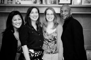 L-R: Jordan, Elle, Amanda, Tony.  Not pictures: Jean Marks & Mr. Wonderful. It takes a village!