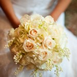 Tamar loved her creamy white bouquet accented with lily of the valley