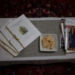The official wedding programme and a few imported Royal mags for guest's perusal